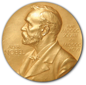 A picture of the Nobel Prize medal